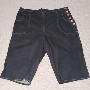 Vintage Denim Crop Capri Jeans Plus Size